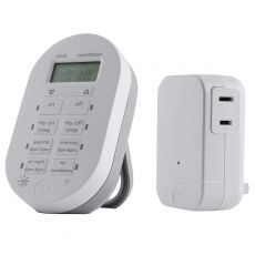 myTouchSmart Indoor Plug-In Simple Set Wireless Timer System, White