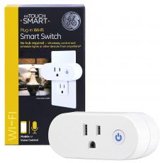 GE myTouchSmart Plug-In WiFi Smart Switch, White