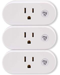 myTouchSmart Indoor Plug-In WiFi Smart Plug, 3 Pack, White